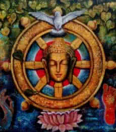 Arjun Das | Acrylic Painting title Peaceful Buddha 4 on Canvas | Artist Arjun Das Gallery | ArtZolo.com