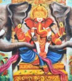 Shree Ganesha | Painting by artist Arjun Das | acrylic | Canvas