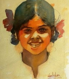 Happiness Is A State Of Mind | Painting by artist Gulshan Achari | watercolor | Paper