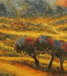 Impressionist Oil Art Painting title 'Colours of Nature' by artist Krupa Shah