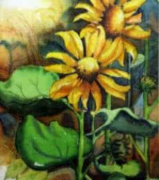 Sun Flower II   Painting by artist Krupa Shah   watercolor   Paper