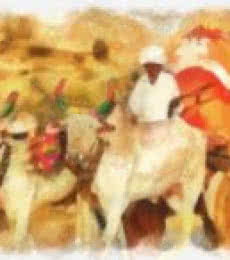 Pushpendu Dutta | India Nimaj Cattle - cart Digital art Prints by artist Pushpendu Dutta | Digital Prints On Canvas, Paper | ArtZolo.com