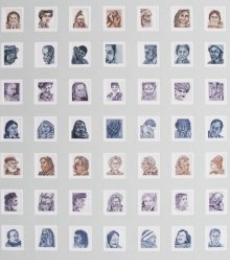 Portrait Etching Art Drawing title 'Golden Memories' by artist Sandeep Suneriya