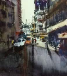 Cst ( Bora Bazar ) | Painting by artist Kiran Gunjkar | Watercolor | Handmade Paper
