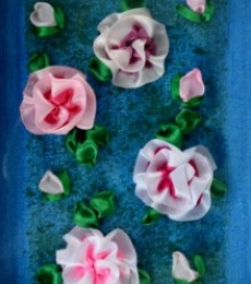 Roses | Mixed_media by artist Mohna Paranjape | Cloth