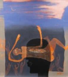Bid Adieu | Painting by artist Pradip Kumar Sau | acrylic | Canvas