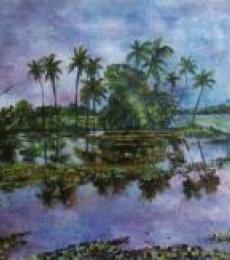 Manjula Dubey | Acrylic Painting title Monsoon Glory on Canvas | Artist Manjula Dubey Gallery | ArtZolo.com