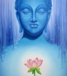Buddha 1 | Painting by artist Baburao (amit) Awate | oil | Canvas