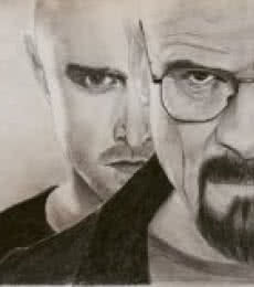 Portrait Pencil Art Drawing title 'Breaking Bad' by artist Joanne Morais