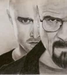Breaking Bad   Drawing by artist Joanne Morais      pencil   Paper