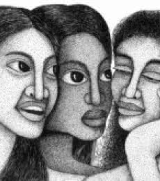 3 Women | Drawing by artist Sanooj KJ |  | pen | Paper
