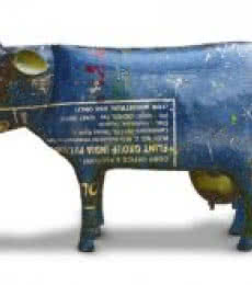 Recycled Iron Cow | Craft by artist Dekulture Works | Recycled Iron