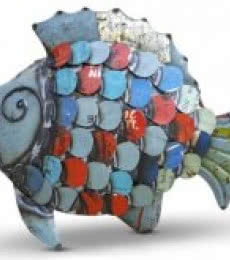 Recycled Iron Fish | Craft by artist Dekulture Works | Recycled Iron