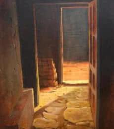 Cityscape Watercolor Art Painting title 'Landscape 13' by artist Vinayak Potdar