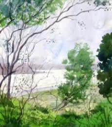 Landscape 4 | Painting by artist Vinayak Potdar | watercolor | Paper