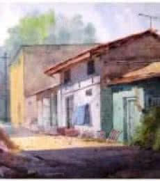 Landscape 9 | Painting by artist Vinayak Potdar | watercolor | Paper