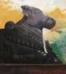 Holy Nandi | Painting by artist Vinayak Potdar | acrylic | Canvas