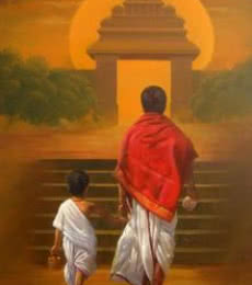 On Holy Path | Painting by artist Vinayak Potdar | acrylic | Canvas