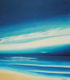 Blue Sky. | Painting by artist SIMON MASON | oil | Canvas