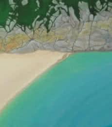 Curno.   Painting by artist SIMON MASON   oil   Canvas