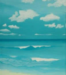 Gone To The Beach. | Painting by artist SIMON MASON | oil | Canvas