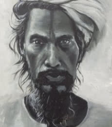 Antique man | Painting by artist Rajesh Gawhale | acrylic | Canvas