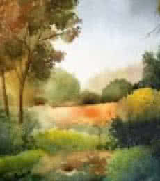 Jitendra Sule Paintings | Watercolor Painting - Beauty of nature by artist Jitendra Sule | ArtZolo.com