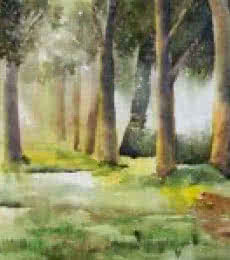 Morning In Wood | Painting by artist Jitendra Sule | watercolor | Handmade Paper