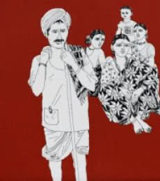 Song of the Village 3 | Painting by artist Laxman Aelay | acrylic | Canvas