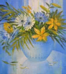 My Flowers 25 | Painting by artist Swati Kale | oil | Canvas