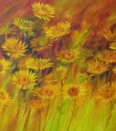 The Flower Bloom 15 | Painting by artist Swati Kale | oil | Canvas
