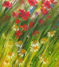 Nature Oil Art Painting title Flowers Wild Beauty 2 by artist Swati Kale