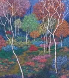Landscape Acrylic Art Painting title 'Landscape 2' by artist Sanjay Devsale