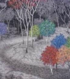 Landscape Acrylic Art Painting title 'Landscape 3' by artist Sanjay Devsale