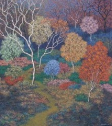 Sanjay Devsale | Acrylic Painting title Landscape 4 on Canvas | Artist Sanjay Devsale Gallery | ArtZolo.com