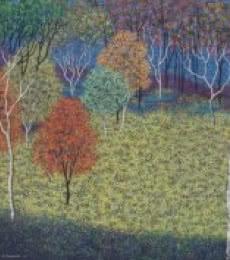 Landscape Acrylic Art Painting title Landscape 5 by artist Sanjay Devsale