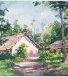 Hut   Painting by artist Gaurishankar Behera   watercolor   Paper