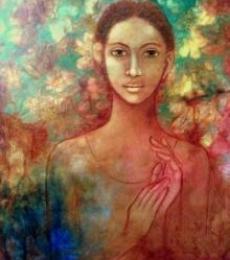 Figurative Acrylic Art Painting title Untitled by artist Joshua Shekar