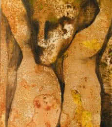 NP Pandey | Mixed-media Painting title Untitled on Paper | Artist NP Pandey Gallery | ArtZolo.com