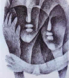 Untitled | Painting by artist NP Pandey | charcoal | Paper