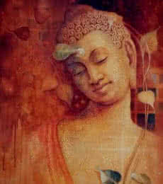 Sanjay Lokhande | Acrylic Painting title Buddha Bhavana on Canvas | Artist Sanjay Lokhande Gallery | ArtZolo.com