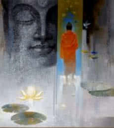 Buddha Breathing | Painting by artist Sanjay Lokhande | acrylic | Canvas