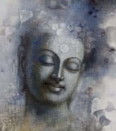 Figurative Acrylic Art Painting title Buddha Mindfulness by artist Sanjay Lokhande