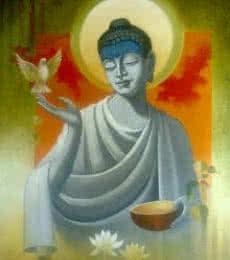 Figurative Acrylic Art Painting title Buddha Vigilance by artist Sanjay Lokhande