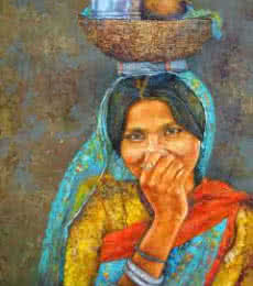 Figurative Acrylic Art Painting title 'Lunch Box' by artist Milind Varangaonkar