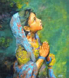 Aastha | Painting by artist Milind Varangaonkar | acrylic | Canvas