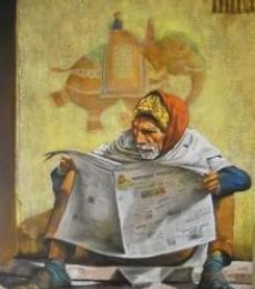 Figurative Acrylic Art Painting title Untitled by artist Milind Varangaonkar