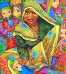 Puppet Seller | Painting by artist Milind Varangaonkar | acrylic | Canvas