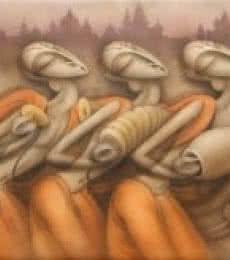 Bhajan | Painting by artist Ramesh Pachpande | acrylic | Canvas