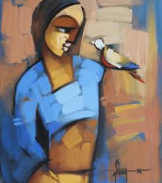 Myself 4 | Painting by artist Deepa Vedpathak | acrylic | Canvas